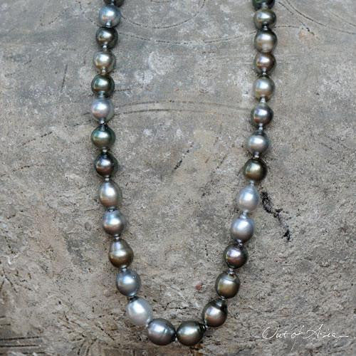 Tahitian Black Baroque Pearl Necklace - OutOfAsia