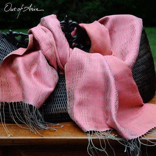 Thai Handwoven 100% Silk Wrap 'Innovation' - OutOfAsia