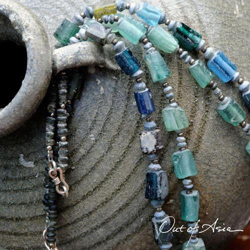 Two Necklaces of Ancient Roman Glass - OutOfAsia