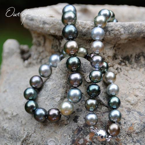 Variegated Tahitian Pearl Necklace - OutOfAsia