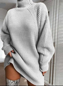 Long Sleeve Sweater Dress - Owl Closet