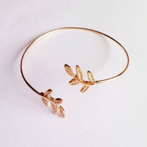 Sakura Copper Cuff Bangle - Owl Closet