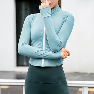 Becky Zip Fitness Coat - Owl Closet