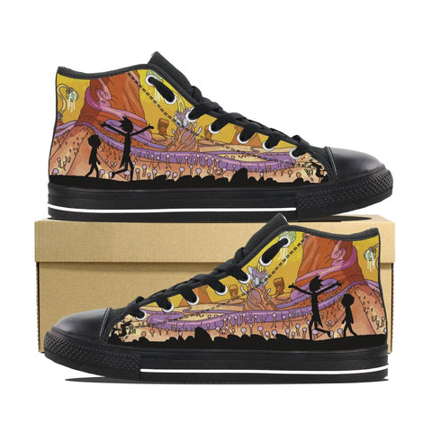 Rick and Morty Hightops