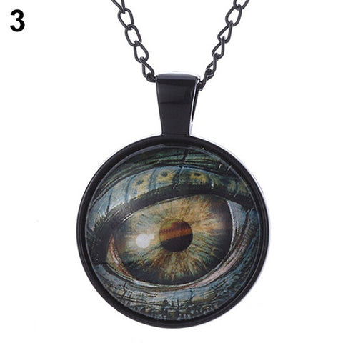 Steampunk Evil Eye Gem Time Pendant