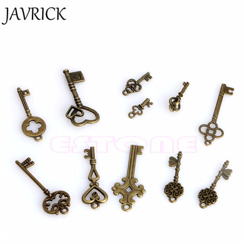 Antique Vintage Steampunk Skeleton Keys - 11 Piece Set