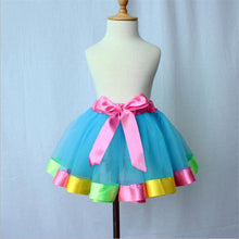 Blue Tutu with Bubblegum Trim