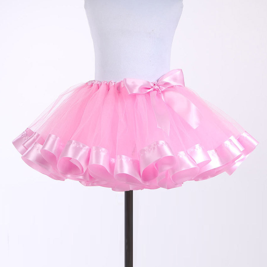 Pretty in Pink Satin Trim Tutu