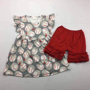 Red & Gray Baseball Shorts Set • PREORDER CLOSES WEDNESDAY, MARCH 7