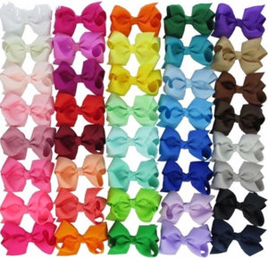 "3"" Hair Bows - Bulk Set • 40 Colors"