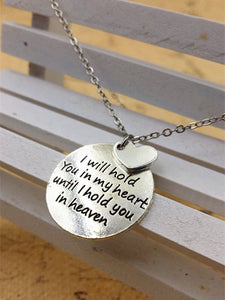 I Will Hold You in my Heart Charm Necklace