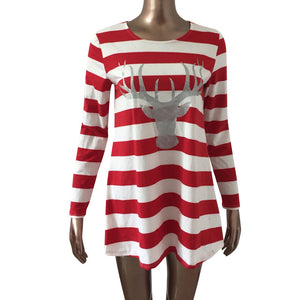 Mommy & Me Striped Reindeer Dresses • PREORDER CLOSES SATURDAY, OCT. 27