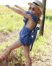 12/18m • Denim Criss-Cross Romper