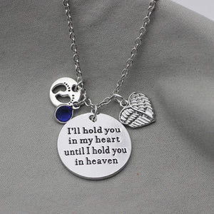 I'll Hold You in my Heart - Personalized Baby Feet Charm Necklace