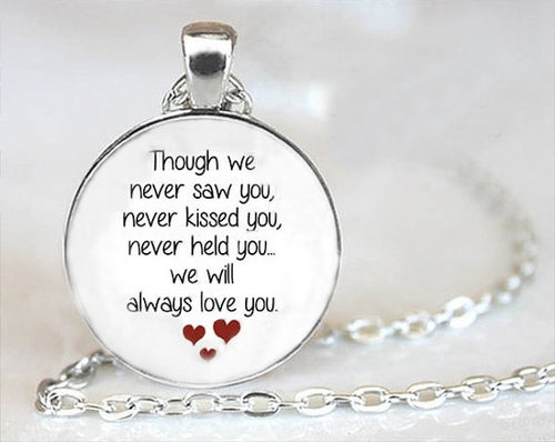 Baby In Heaven Bubbled Glass Necklace