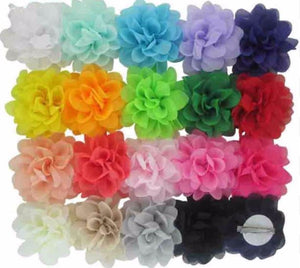"3"" Chiffon Flower Hair Bows - Bulk Set"