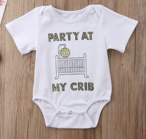 Party At My Crib Onesie • PREORDER