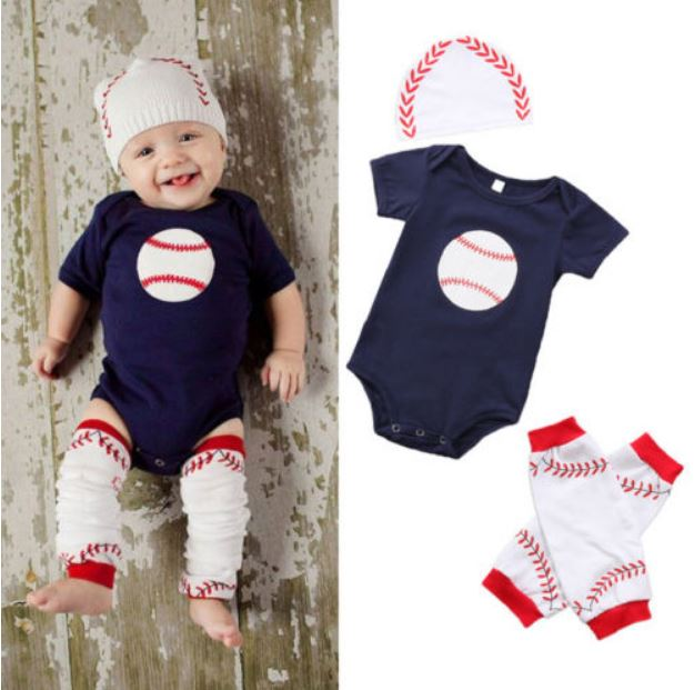 Baseball Onesie 3 pc. Set • PREORDER CLOSES SUNDAY, MARCH 18