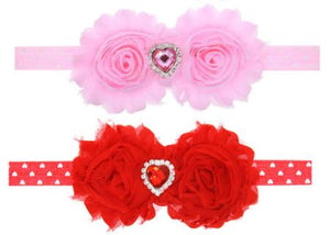"5"" • Double Rosette Baby Headbands"