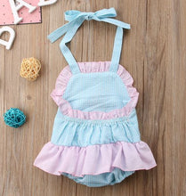 Flamingo Seersucker Ruffle Romper • PREORDER CLOSES SUNDAY, MAY 27