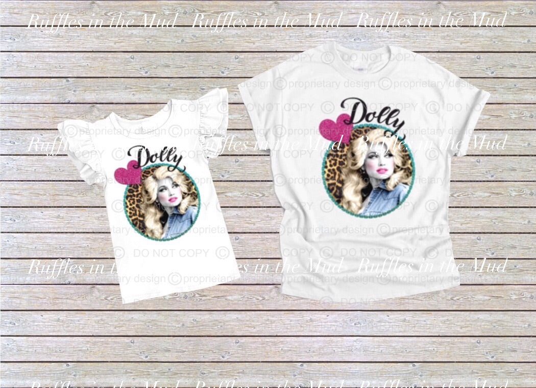 WOMEN'S • Leopard Print Dolly Parton Tee • PREORDER CLOSES FRIDAY, JUNE 28