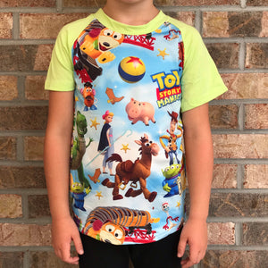 3/6m, 6/12m, 5/6-7/8 • Toy Story Land Raglan