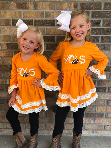 4T-10/12 • Vols Lace Trim Tunic 💜 Big Sister