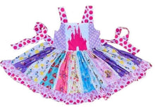 • Magic Kingdom Princess Fabric Panels Twirly Dress