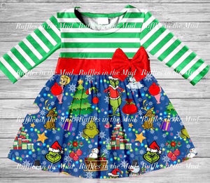 A Grinchy Christmas Bow Dress • PREORDER CLOSES SATURDAY, JULY 20