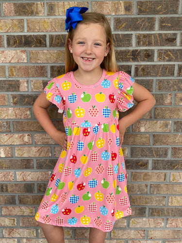 6/7, 7/8 • Bushel of Apples Flutter Dress