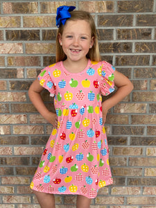 4T-7/8 • Bushel of Apples Pearl Dress