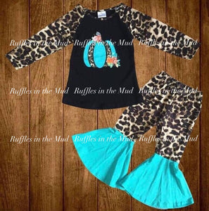 Teal & Leopard Pumpkin Pants Set • PREORDER CLOSES THURSDAY, AUG. 29