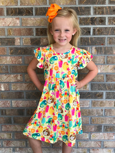 2T, 3T • Tropical Luau Pearl Dress