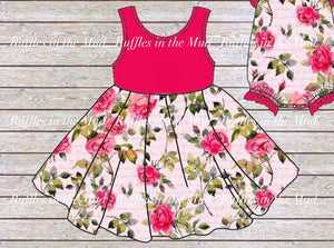 Pink Roses Premier Boutique Twirl Dress • PREORDER CLOSES SATURDAY, MARCH 28