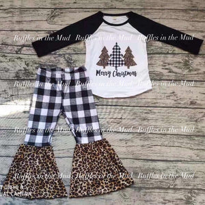 Merry Christmas Leopard & Plaid Pants Set • PREORDER CLOSES SUNDAY, SEPT. 29