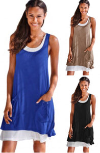 Super Soft Tank Dress with Lace Up Pockets • PREORDER CLOSES THURSDAY, JULY 5