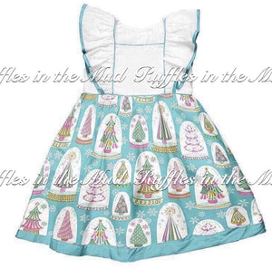 4T-6/7 • Christmas Tree Snow Globe Dress