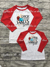 KID'S • Deck the Halls Y'all Raglan • PREORDER CLOSES SUNDAY, SEPT. 2