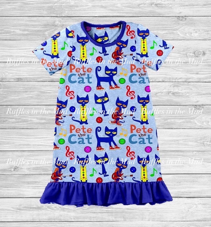 Pete The Cat Nightgown • PREORDER CLOSES SUNDAY, MAY 24