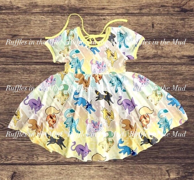 Eevee Pokemon Tie String Dress • PREORDER CLOSES WEDNESDAY, MAY 6