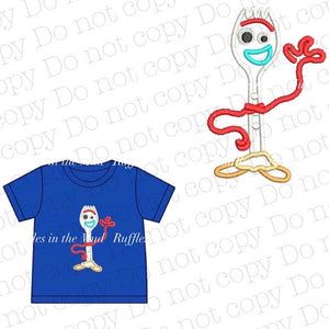 Blue Forky Tee • PREORDER CLOSES SATURDAY, FEB. 29