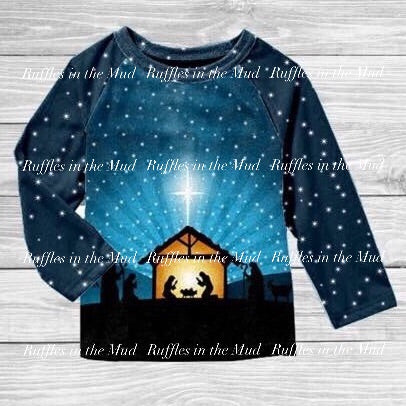 Nativity Scene Raglan - Long Sleeve • PREORDER CLOSES THURSDAY, JULY 11