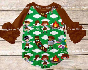 Girl Scout Ruffle Raglan • PREORDER CLOSES TUESDAY, JULY 23
