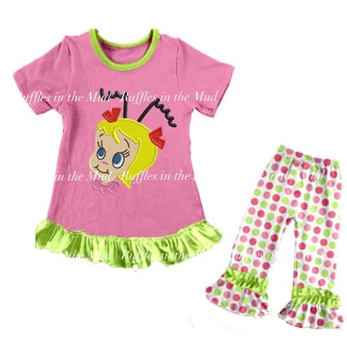 GIRL'S • Cindy Loo Who Pajama Set - Pink • PREORDER CLOSES WEDNESDAY, JULY 3
