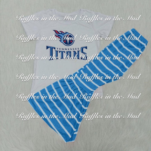 6/12m-14/16 • Tennessee Titans Pants Set 💜 Big Sister