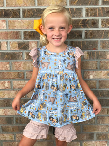 4T • Where The Wild Things Are Ruffle Shorts Set