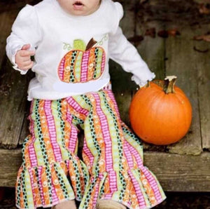 5/6 • Patchwork Pumpkin Pants Set