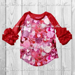 Glitter Minnie Valentine Raglan • PREORDER CLOSES THURSDAY, OCT. 25