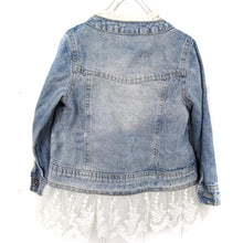 6/7 • Lace Trim Denim Jacket