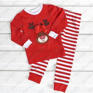 Red Stripe Reindeer Pajamas • PREORDER CLOSES SATURDAY, OCTOBER 6